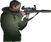 "When standing without the use of a stick, by locking your arm against your chest the rifle can be rested on your hand."" class=""floatRight"" src=""/sites/all/files/icon_notice.png"" title=""When standing without the use of a stick, by locking your arm against your chest the rifle can be rested on your hand"